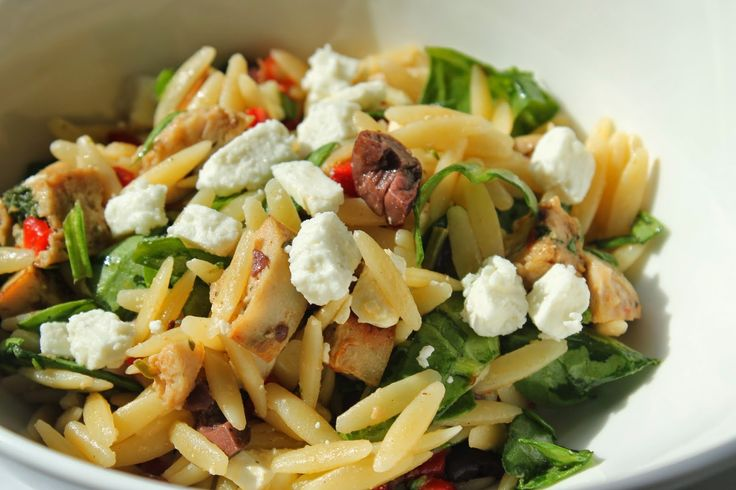 Orzo Salad With Chicken Sausage, Spinach, And Feta | Recipe