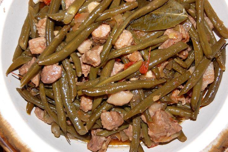 Green Beans & Pork Adobo Stir-Fry | Feistycook | Pinterest