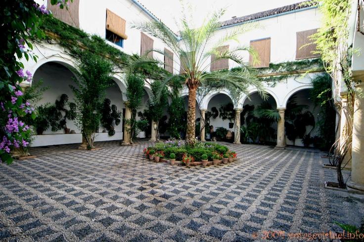 Patio principal du Palacio de Viana, Cordoba, Espanha, Andaluzia