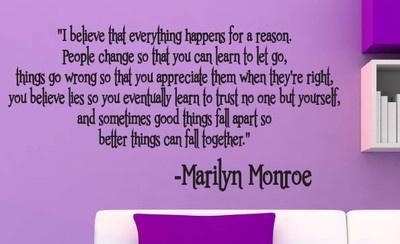 Marilyn Monroe I Believe Quote