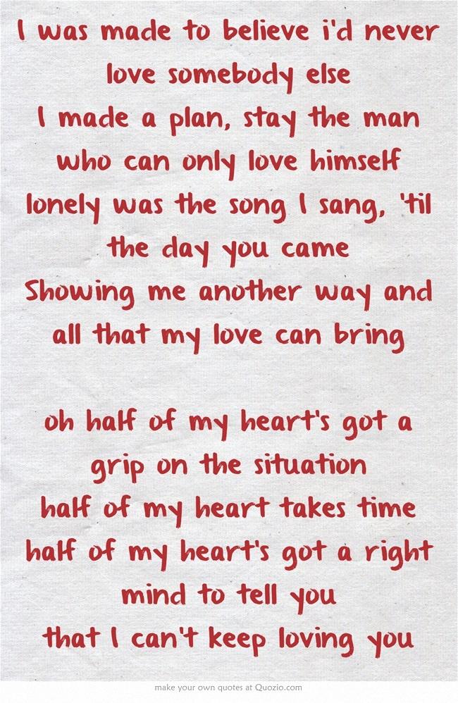 Half of my Heart - Joh...