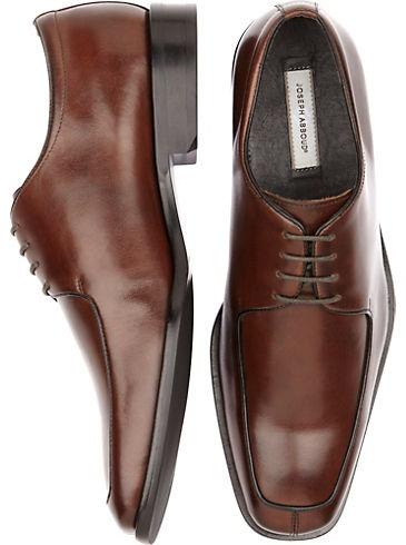 Shoes - Joseph Abboud Brown Oxford Lace Up Shoes - Men's Wearhouse