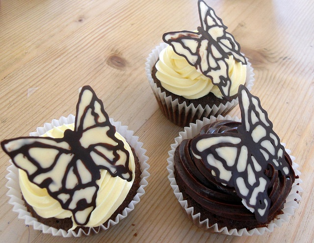 Chocolate Butterfly Cupcakes Cake ideas Pinterest