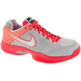 Geyser Gray/Atomic Red : Tennis Shoes - Women's Shoes: Holabird Sports