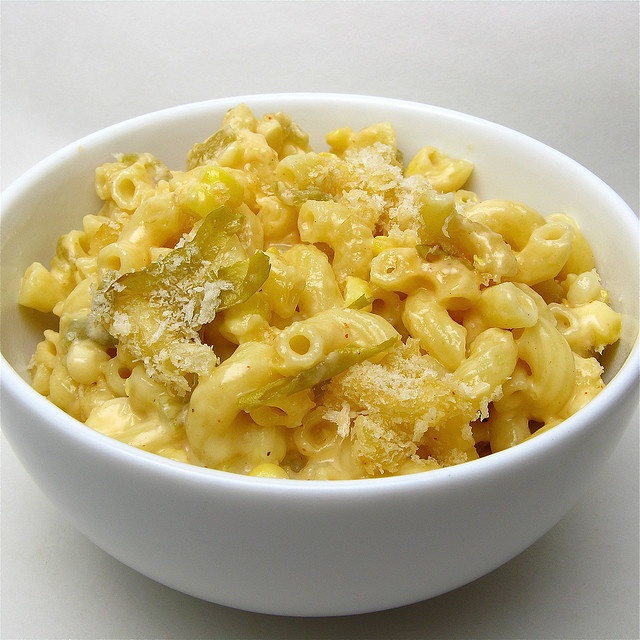 Green Chile & Corn Mac & Cheese by katbaro, via Flickr