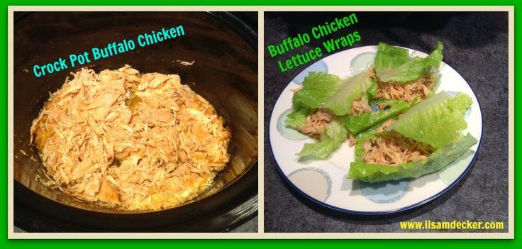 Crock Pot Buffalo Chicken, Lettuce Wraps, Clean Eating Crock Pot Meals