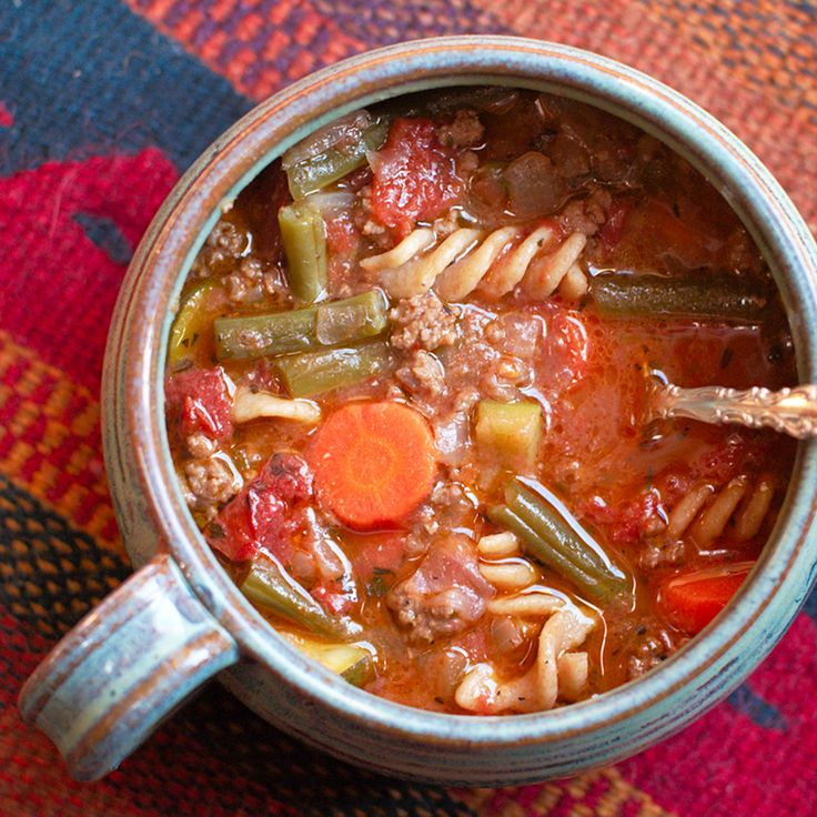 Beef and Vegetable Soup   Soup and Salad   Pinterest