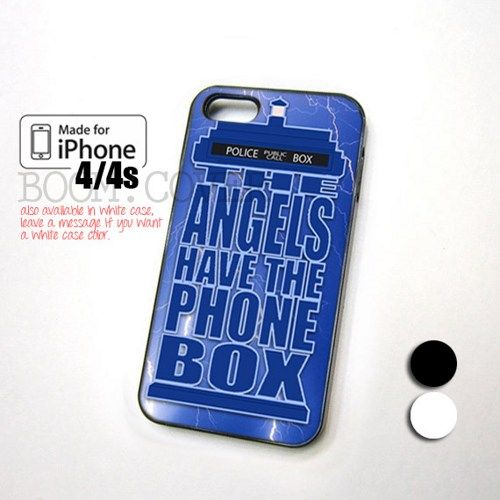 Tardis Doctor Who The Angel for iPhone 4,4S,5 and Samsung Galaxy S3,S4