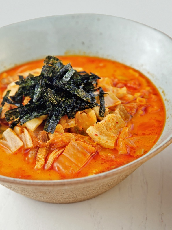 Kimchi Jjigae (Kimchi Stew) from CookingChannelTV.com