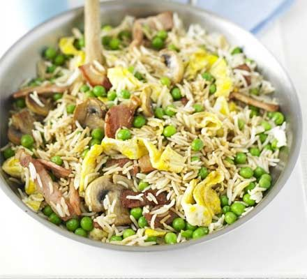Fast-fix fried rice. . Really tasty midweek meal and a great way to ...