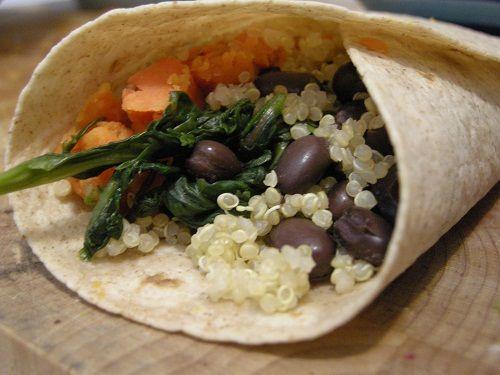 Smashed Sweet Potato Burrito | Recipe