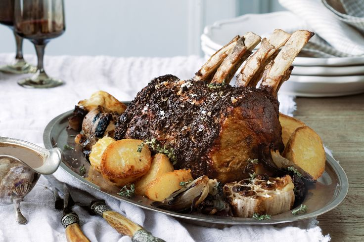 Spoil your guests with this succulent herb-crusted rib roast -- the ...