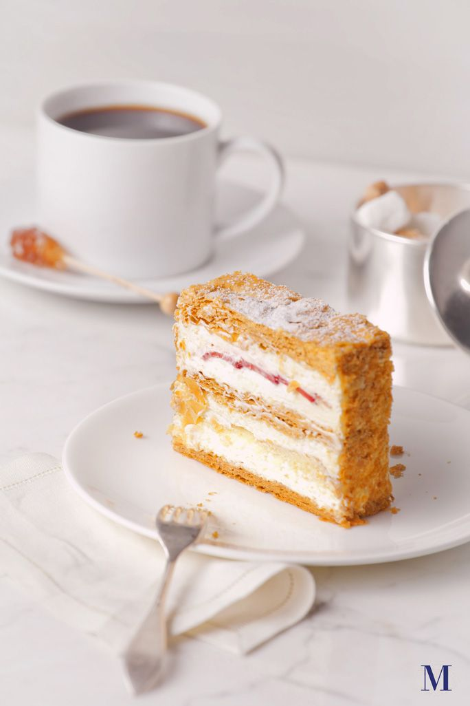 Strawberry Mille Feuille @ Lady M Confections in NYC