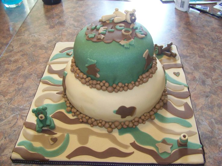 camouflage baby shower cake baby shower pinterest