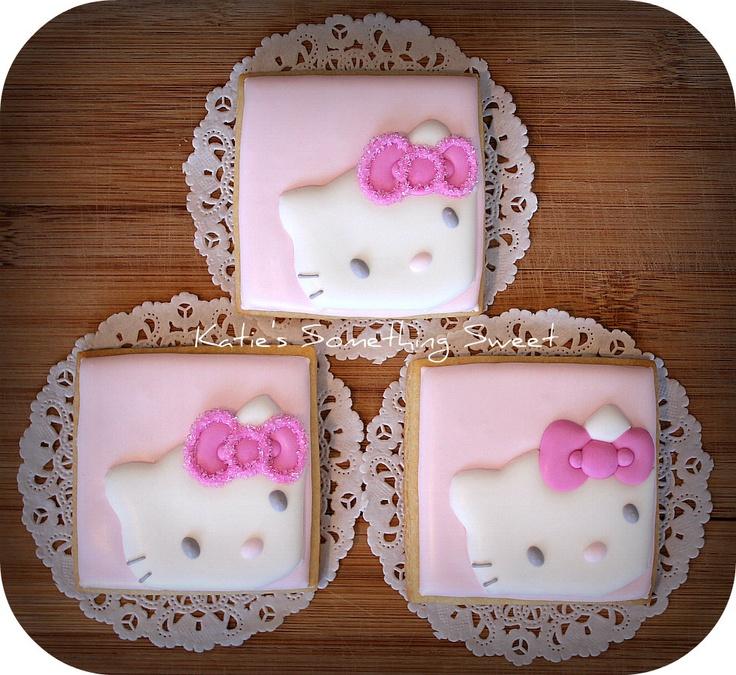 {Katie's Something Sweet}  Hello Kitty cookies