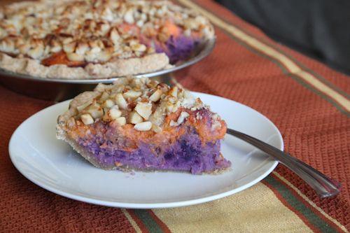 Orange Yams and Okinawa Purple Sweet potato with Macadamia Nut Pie ...