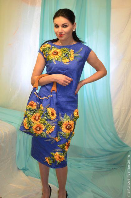 Вышивка на платья лентами
