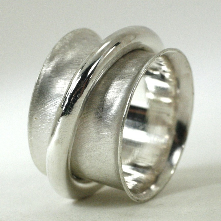 big thick sterling silver spinner ring