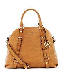 MICHAEL Michael Kors python-embossed leather bag. MY NEW BAG!!!