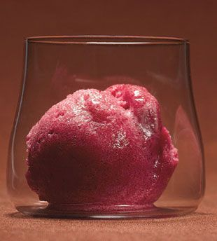 Cranberry and Vanilla Bean Sorbet ... Here's a clean, bright dessert ...