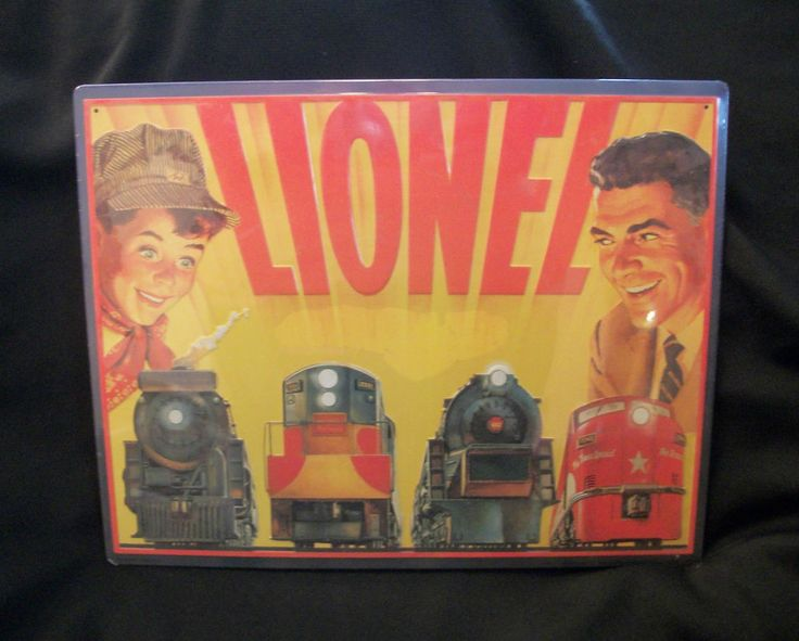 HALLMARK Great American Railroad Tin Sign. Reproduction of a 1954 Lionel Catalog Cover, New With Tags. $15.95 obo (Free S&H)