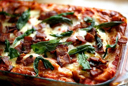 Roasted Butternut Squash Lasagna with Goat Cheese, Bacon, and Fried S ...
