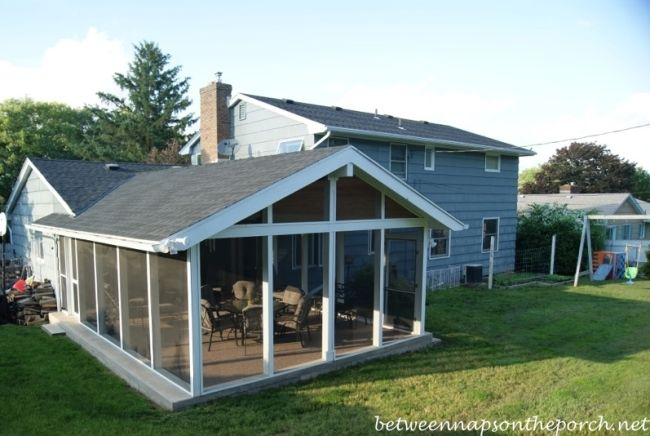 screened in porch addition patio becomes screened in porch