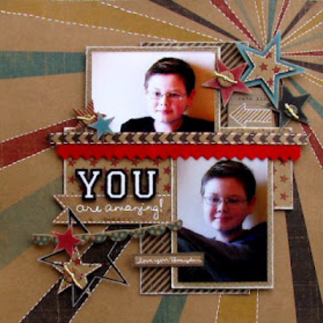 YOU are amazing | Scrapbook Pages: Boys | Pinterest