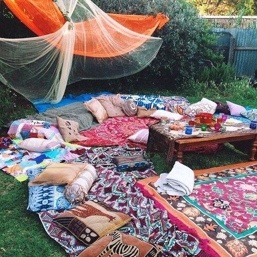 Bohemian Backyard Party : bohemian #outdoor living  For the Home  Pinterest