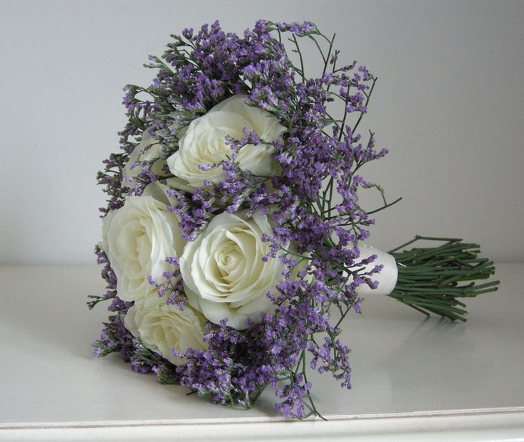 Avalanche Roses With Lilac Limonium Wedding Ideas Pinterest
