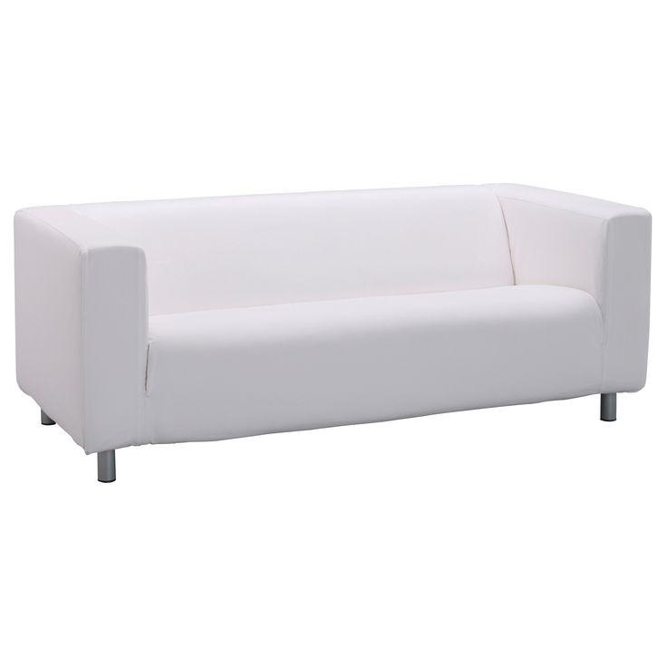 Klippan Two Seat Sofa Alme White