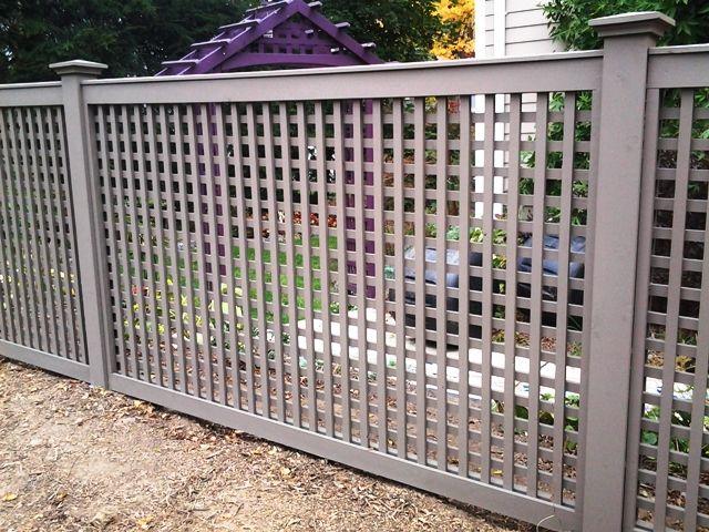 Grey Wood Lattice Fencing Wood Fence Pinterest
