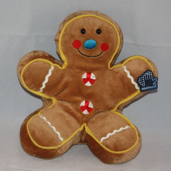 Applause Gingerbread Man Stuffed Plush Toy