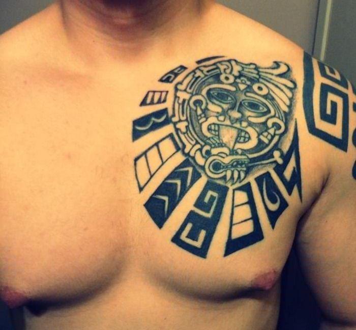 mayan chest plate tattoo design maya aztec. Black Bedroom Furniture Sets. Home Design Ideas