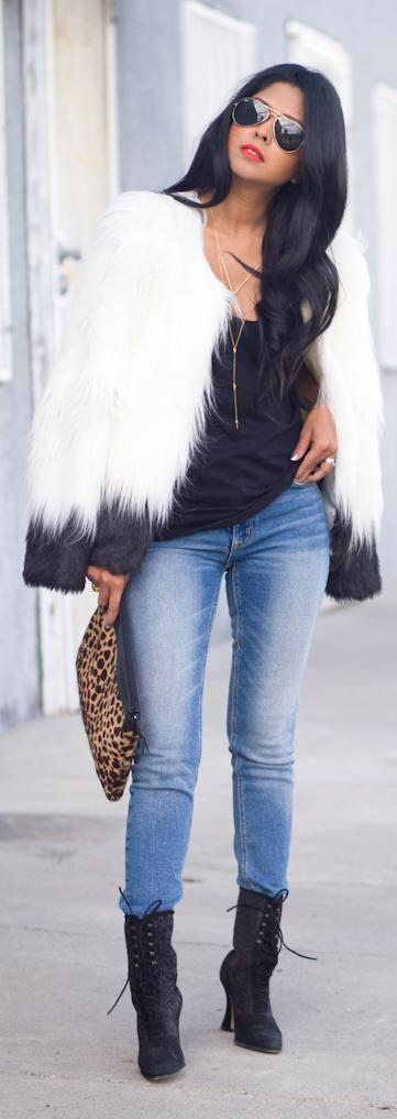 FAUX FUR TREND http://www.walkinwonderland.com/2013/11/faux-fur-trend.html