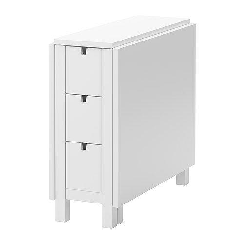 NORDEN Gateleg table white IKEA great space saver