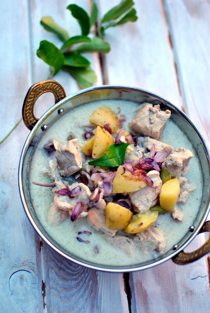 Kerala Chicken Stew- my mom makes this with coconut milk- a touch of ...