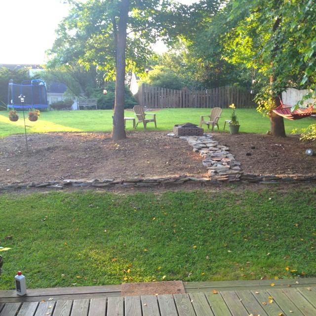 backyard sitting relaxing area garden outdoors pinterest