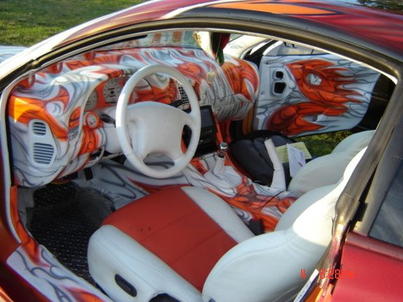 1997 mitsubishi eclipse custom paint job custom paint interior it 39 s wild and i like it