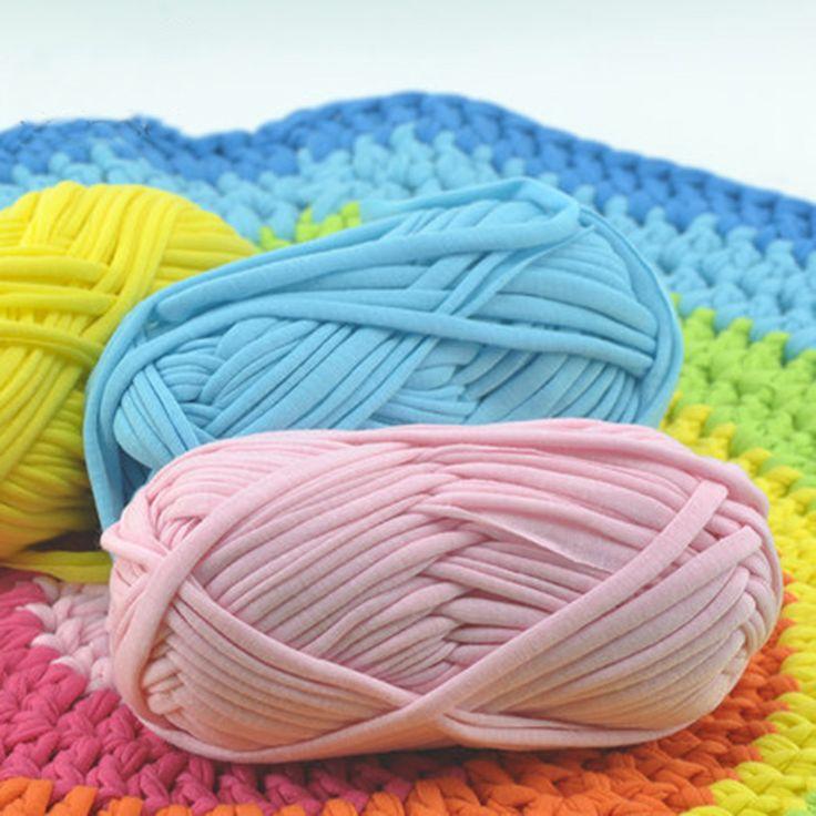 Толстые нитки для вязания ковриков крючком 55