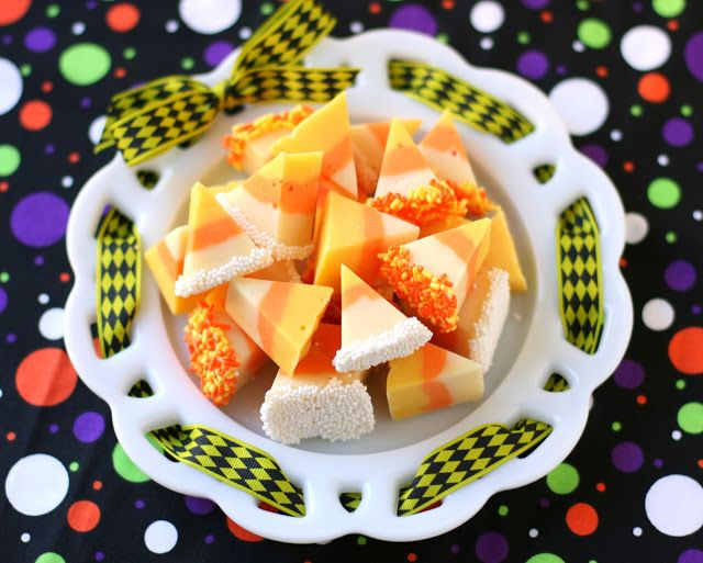 White Chocolate Candy Corn Fudge | Buck Up And embrace FALL | Pintere ...