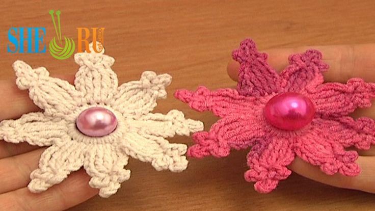 Crochet Flower Tutorial Sheru : Pin by SHERU Knitting on Crochet Flower Tutorials Pinterest