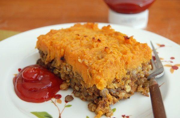 ... Shepherd's Pie with Lentils, Mushrooms, and Sweet Potato