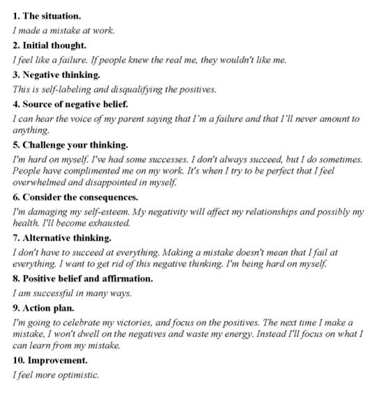 automatic thoughts worksheet Termolak – Automatic Negative Thoughts Worksheet