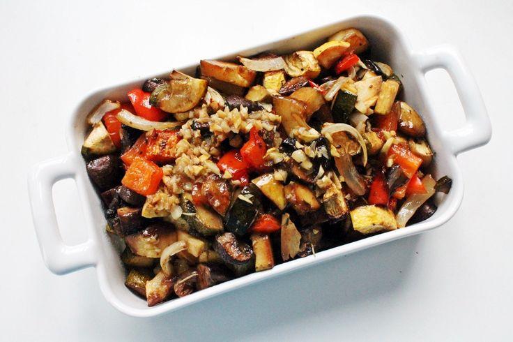 Roasted Vegetables + Garlic Vinaigrette | My favs | Pinterest