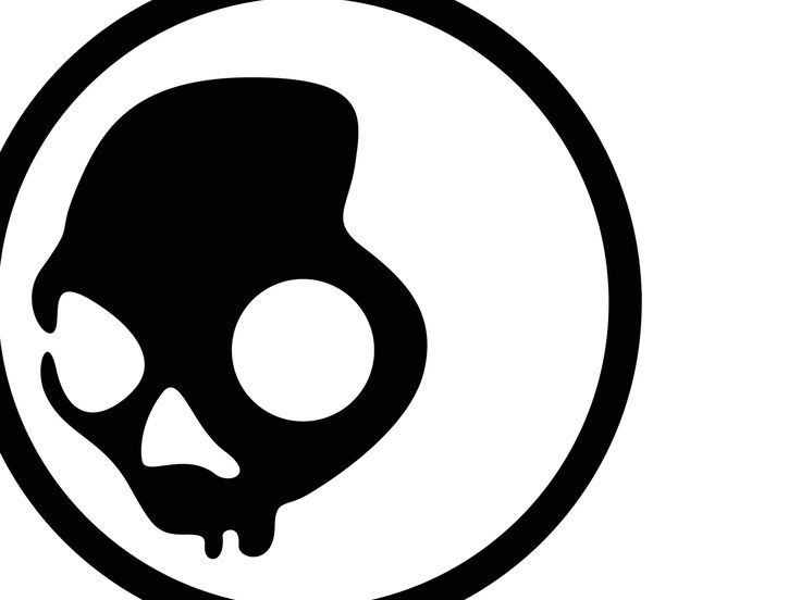 Black Skullcandy Logo