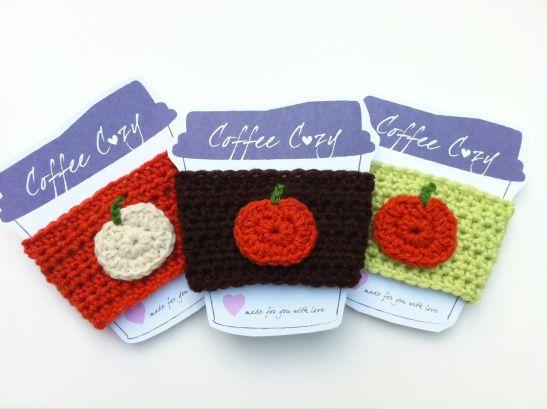 crochet pumpkin coffee cozy   Crochet   Pinterest