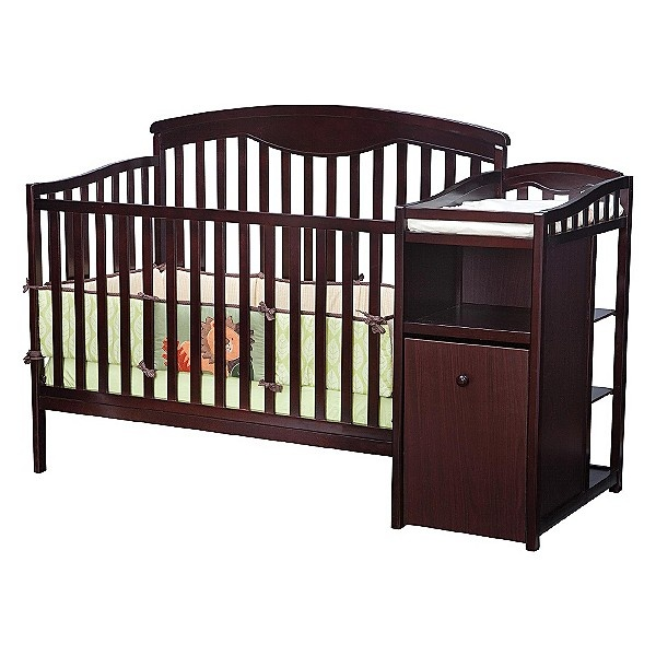 3 In 1 Crib With Changing Table