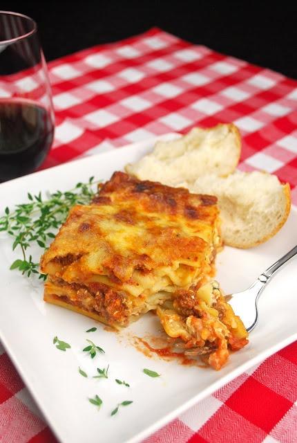 Lasagna, like my mom made it.