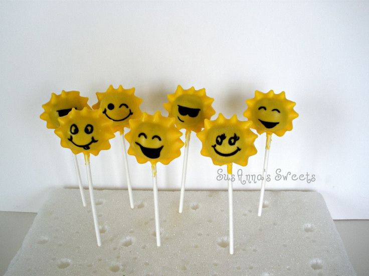 Summer Sunshine Pops | SusAnna's Sweets Custom Pops | Pinterest